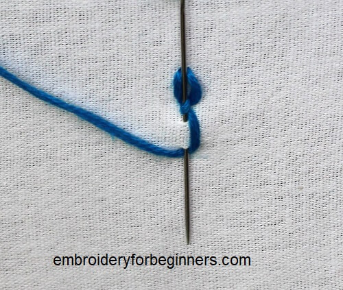 finishing the cable chain stitch