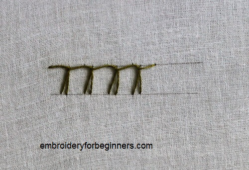 German Knotted Blanket Stitch (Step By Step & Video)