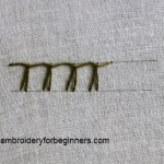 german knotted blanket stitch