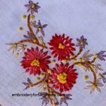 knotted lazy daisy stitch flower