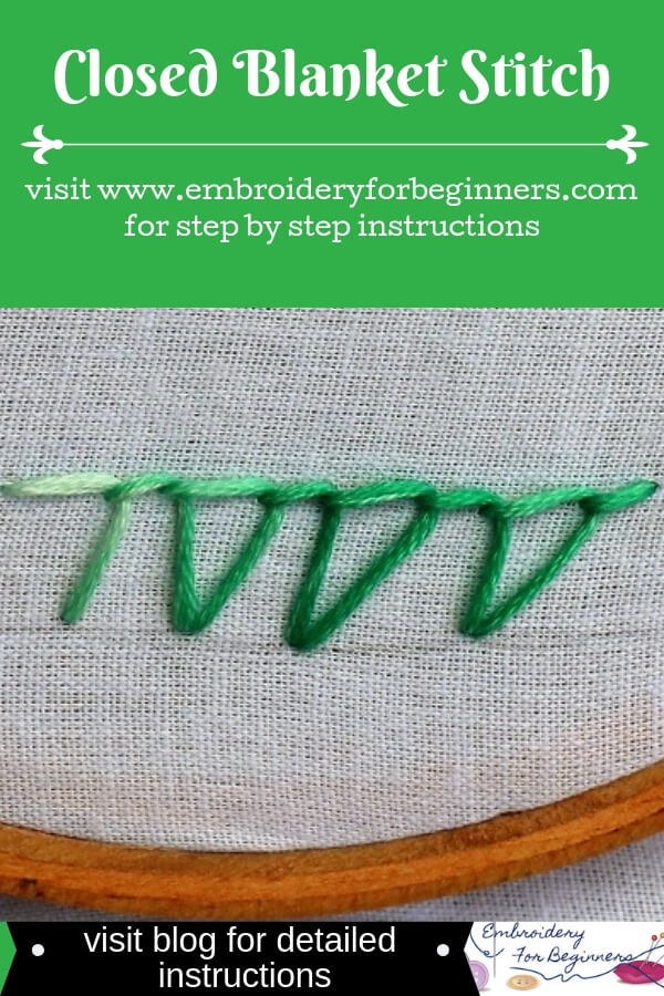 visit blog for detailed instructions for closed blanket stitch