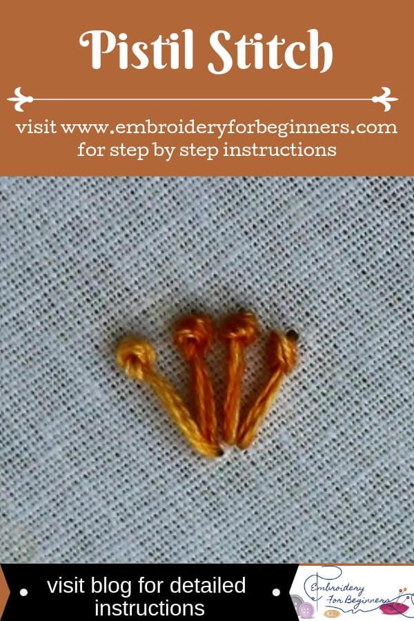 visit blog for detailed instructions for working the pistil stitch