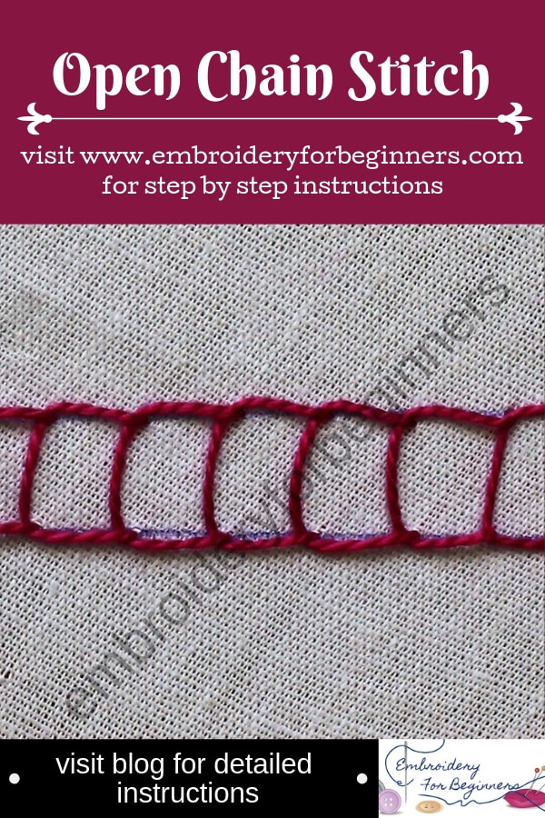 visit blog for detailed instructions on working the open chain stitch