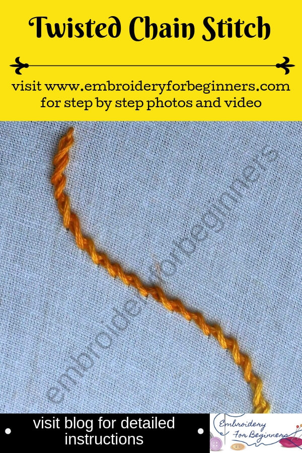 visit blog for detailed instructions on working the twisted chain stitch