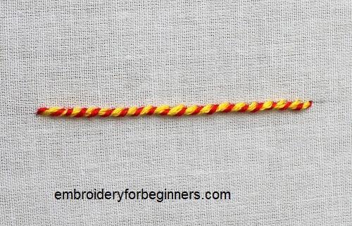 whipped stem stitch