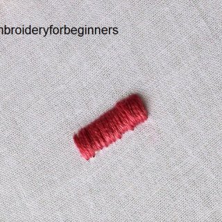 padded satin stitch