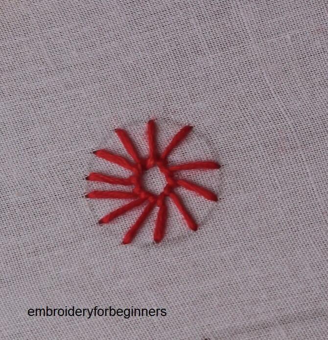 sun wheel stitch