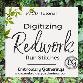 Digitizing Run Stitches with Continuous Lines