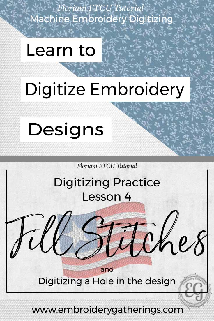 Practice your embroidery digitizing skills with this lesson about Fill Stitches. Step by step written tutorial and free PDF.