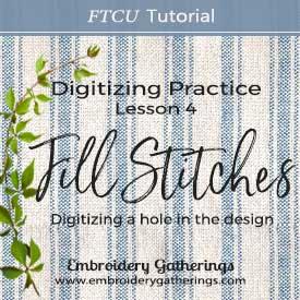 Floriani FTCU Digitizing Practice Lesson 4 – Fill Stitch