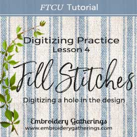 Floriani FTCU Digitizing Practice Lesson 4 – Fill Stitch