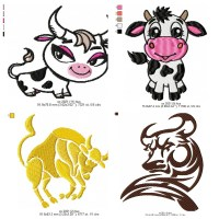 Ox - Free designs for embroidery machine