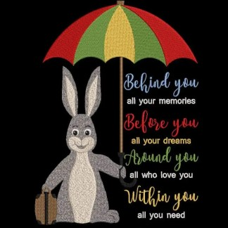 bunny and quote
