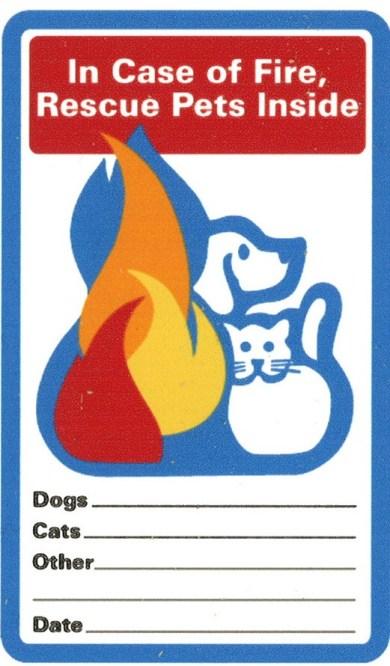 Fire Escape Plan with Pets
