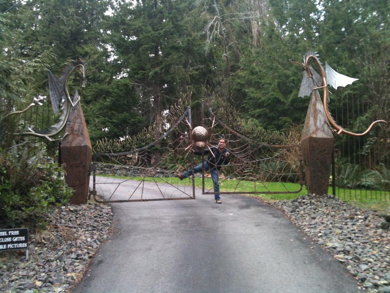 Custom Made Gate On Vancouver Island