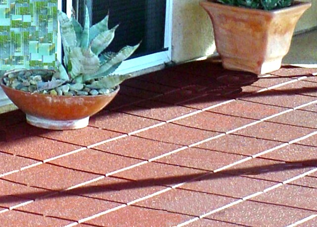 rubber flooring paver tiles