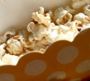 Popcorn in a coloured box