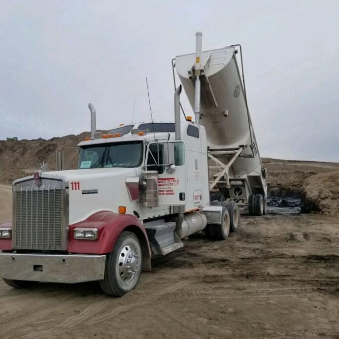 texas oilfield end dump trailer