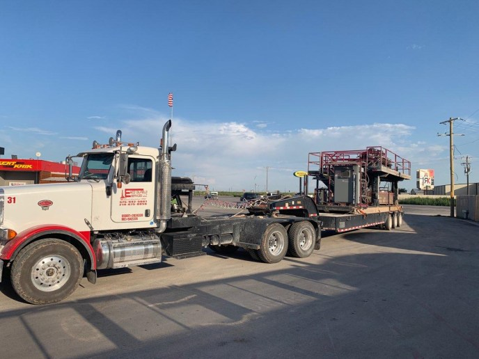 Emco's winch truck and heavy hauling equipment