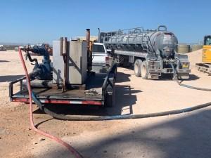 jet trailer in the permian oilfield