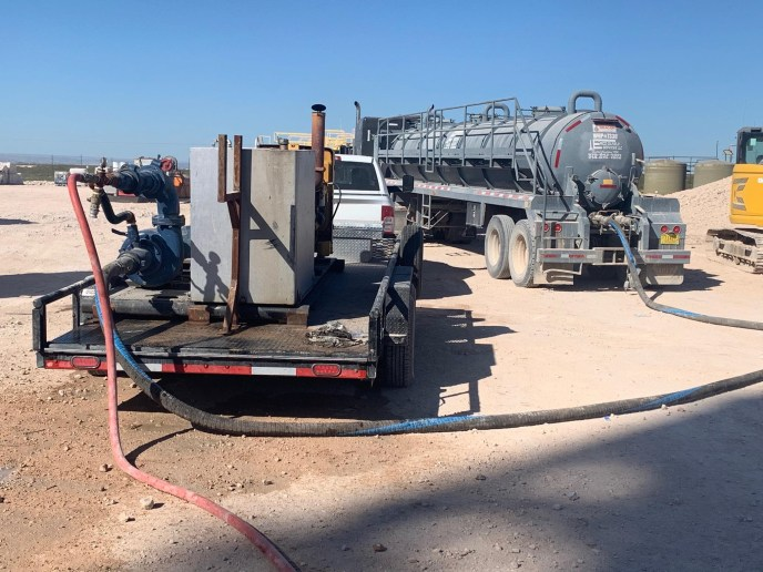 jet trailer in the permian oilfield
