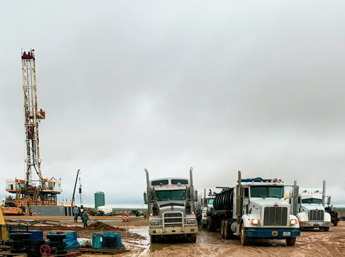 In the Permian basin supporting oil rigs to completion