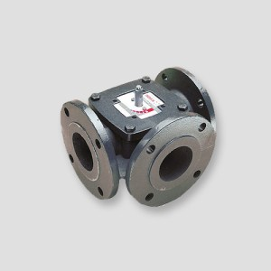 sontay VR-F- 3-port Flanged Iron Rotary Shoe Valve