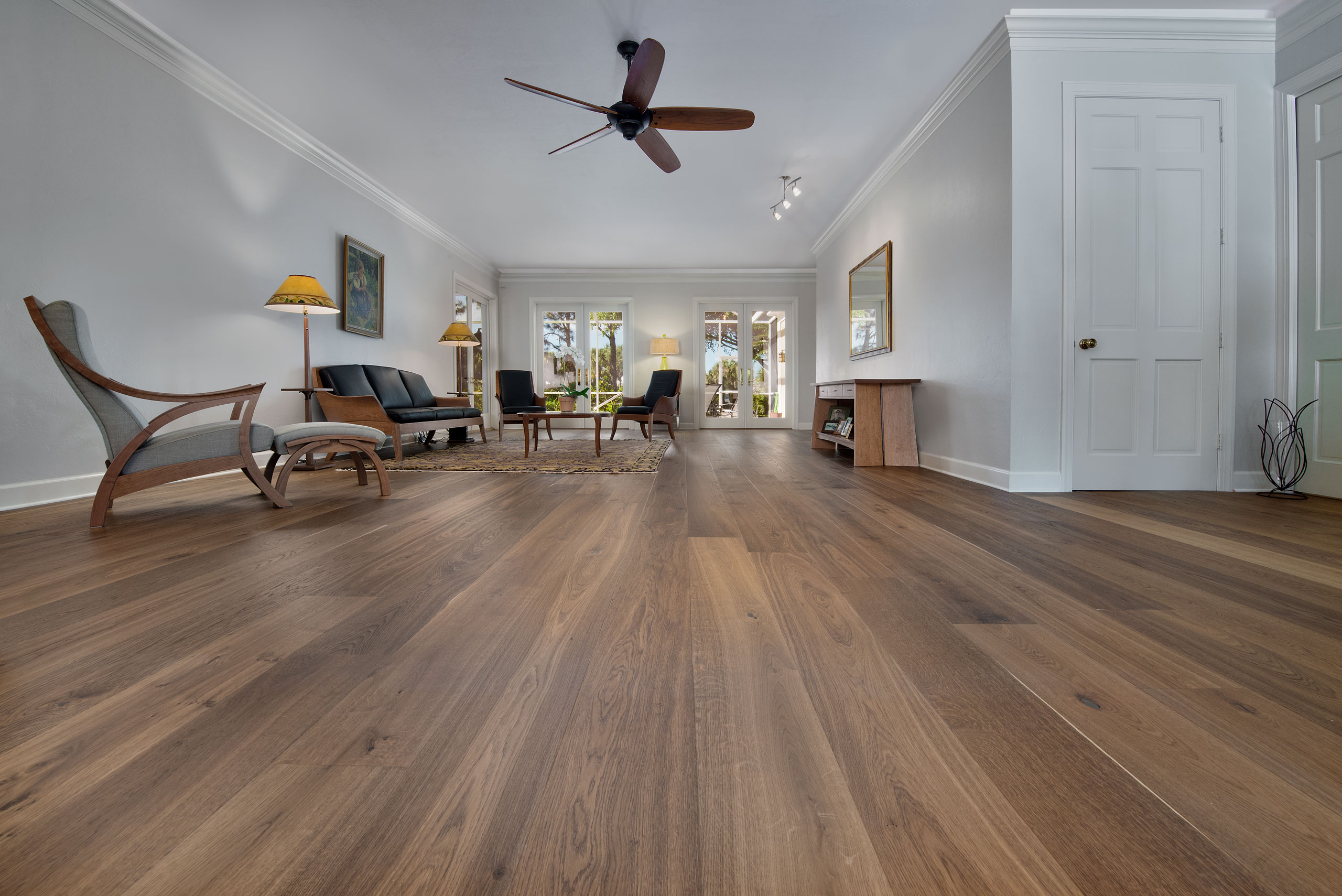 hardwood living room floor modern