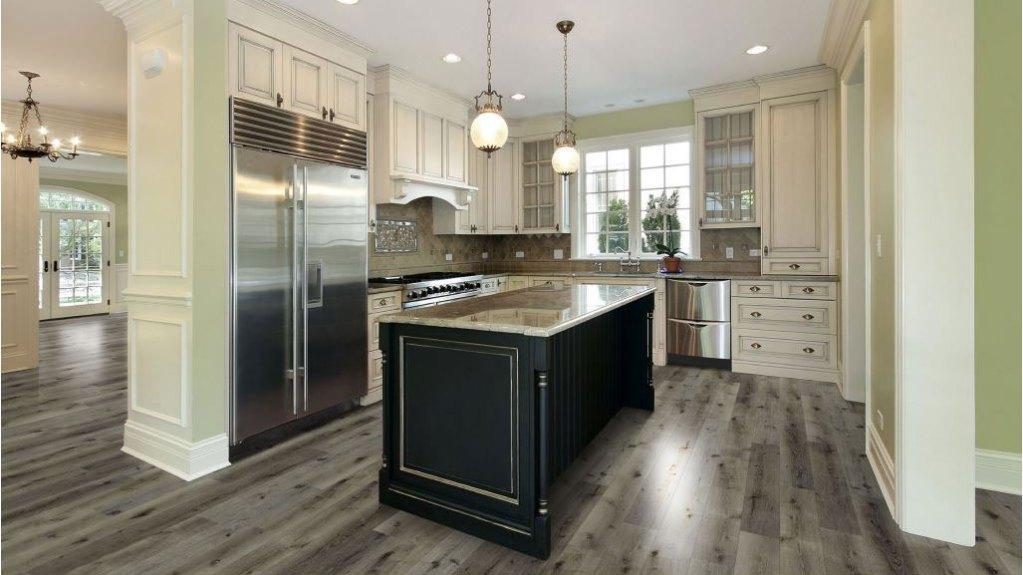 Smooth hardwood flooring texture