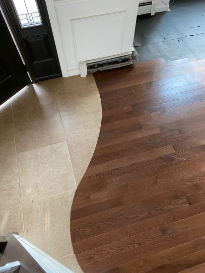 Somerset white oak flooring installation