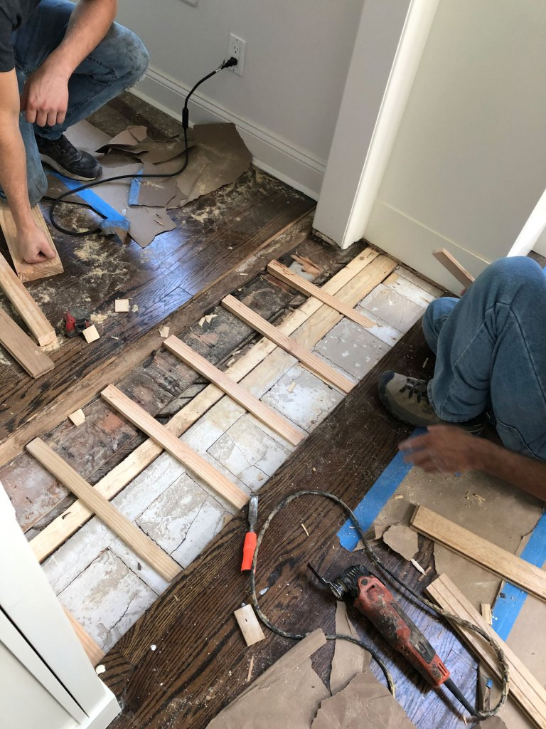 Flooring repair in Sands Point during project
