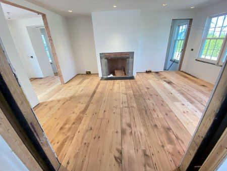 pumpkin pine flooring installation