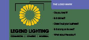 Em Designs Legend Lighting Logo Design Sydney Graphic Designer