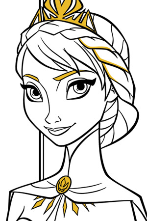 Coloring Page Of Elsa From Frozen - Free Coloring Page