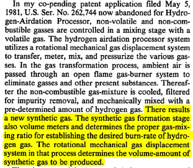 Stan Meyer Synthetic Gas