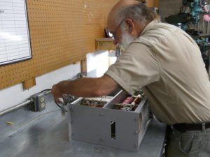 Eric Dollard working on and designing the MWO's Pulse Modulator