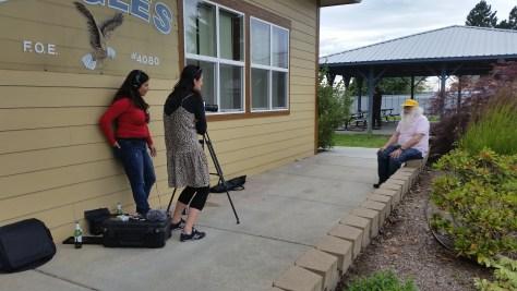 Janja Glogovac interviewing Prof. Robert Haralick at the 2016 ESTC