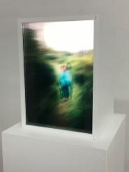 Emelien Dieleman, zonder titel (Moeder en Ik), 2016, 23 x 32 cm, MDF; foto's op transparante sheets
