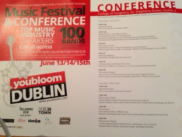 Music industry conferences' programme
