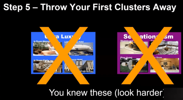 Throw your first clusters away