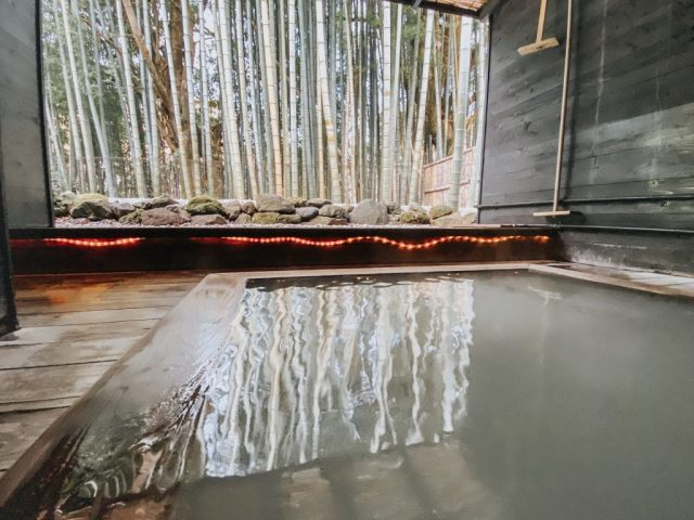 traditional japanese hot spring mineral onsen in japan