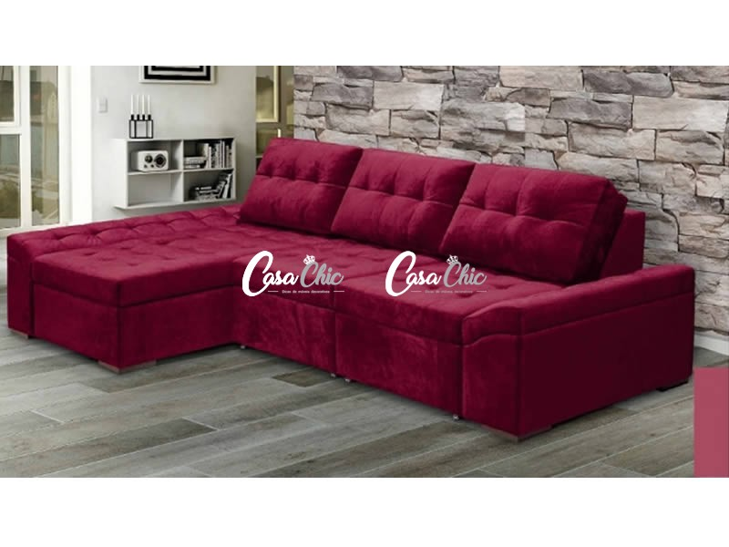 Sofa Samec 8030 Chaise Retratil E Reclinavel 06 Lugares