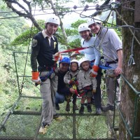 Just close your eyes and jump (Costa Rica with Kids Zip-lining)
