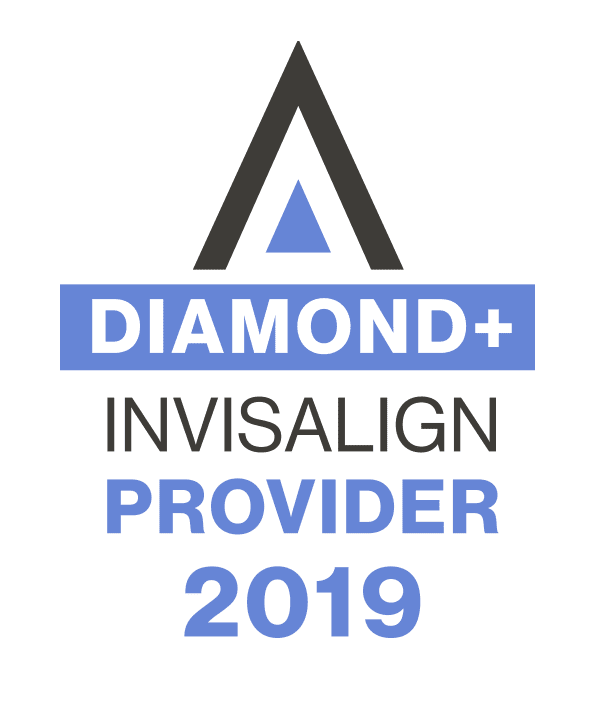 """Diamond Invisalign Provider 2019"" distinction, Fishbein Orthodontics"