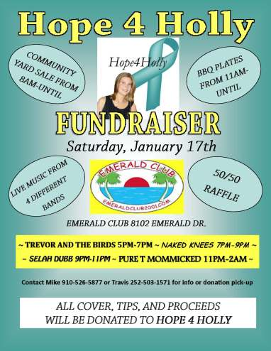 Hope 4 Holly Fundraiser flyer