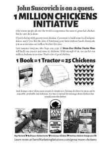 1 Million Chickens Initiative flyer