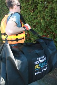 Easily transport your OSCAR Water Rescue Training Dummy