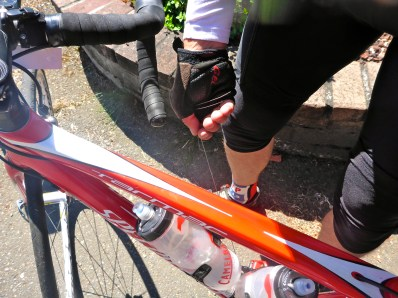 Paula's rear derailleur cable breaks for the second time in four months, third time in a year. Mile 67.
