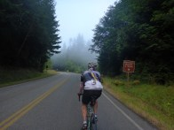 Timothy starts up the ridge