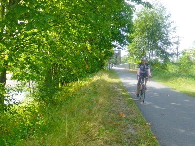 One of many excellent bike paths on this route.